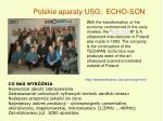 polskie aparaty usg echo son