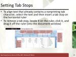setting tab stops21