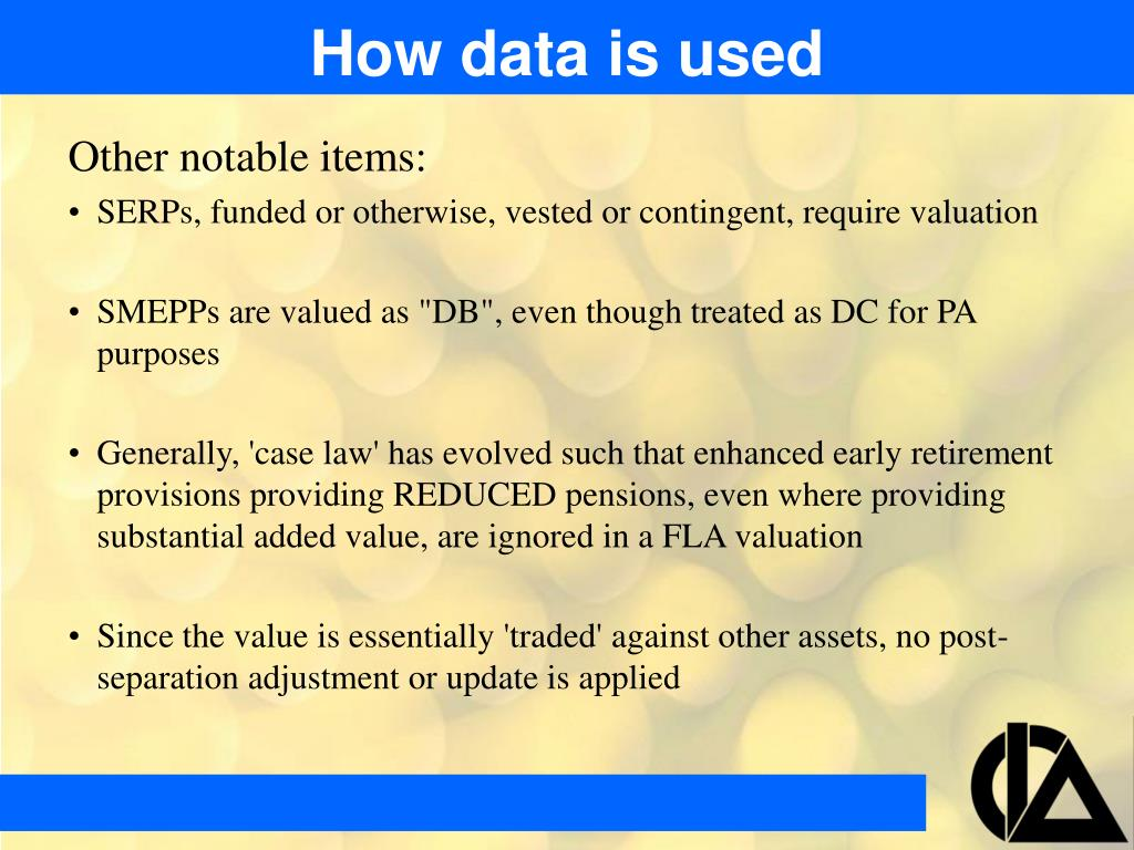 How data is used