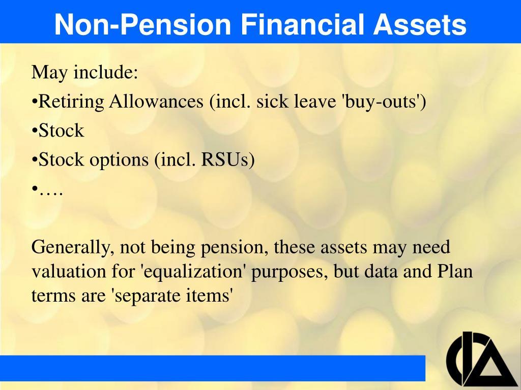 Non-Pension Financial Assets