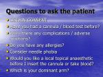 questions to ask the patient