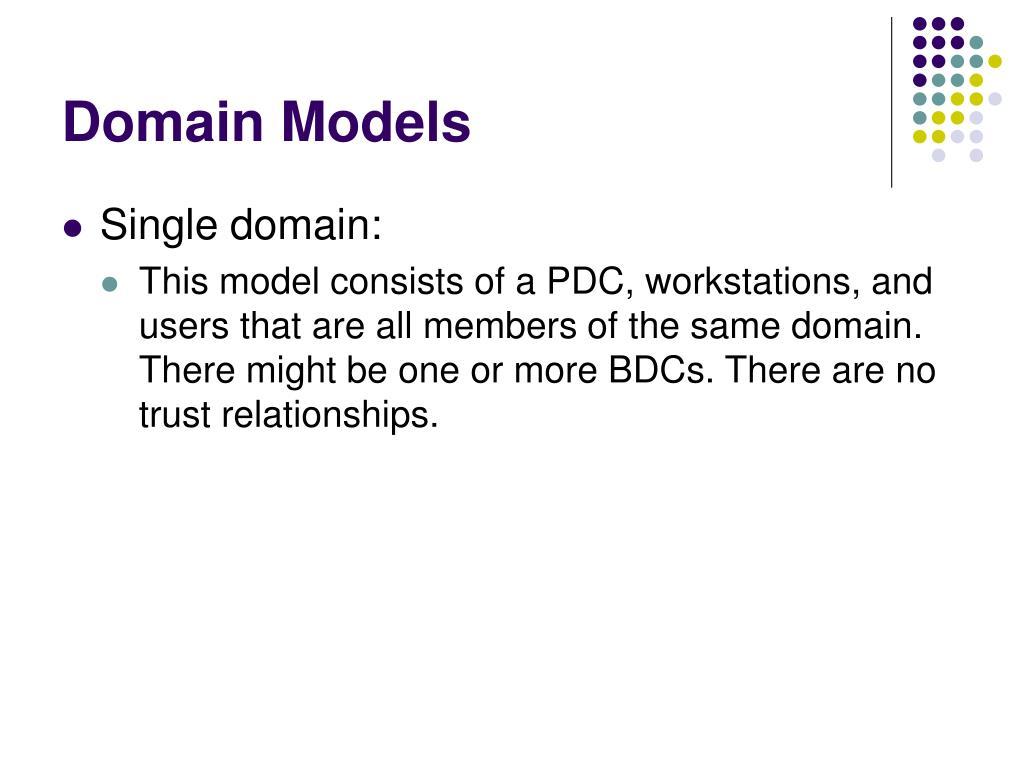 Domain Models