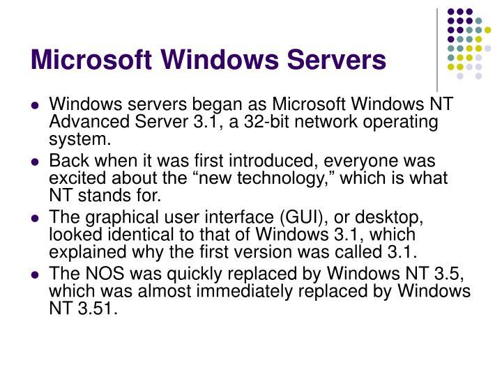 Microsoft windows servers