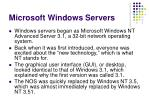 microsoft windows servers