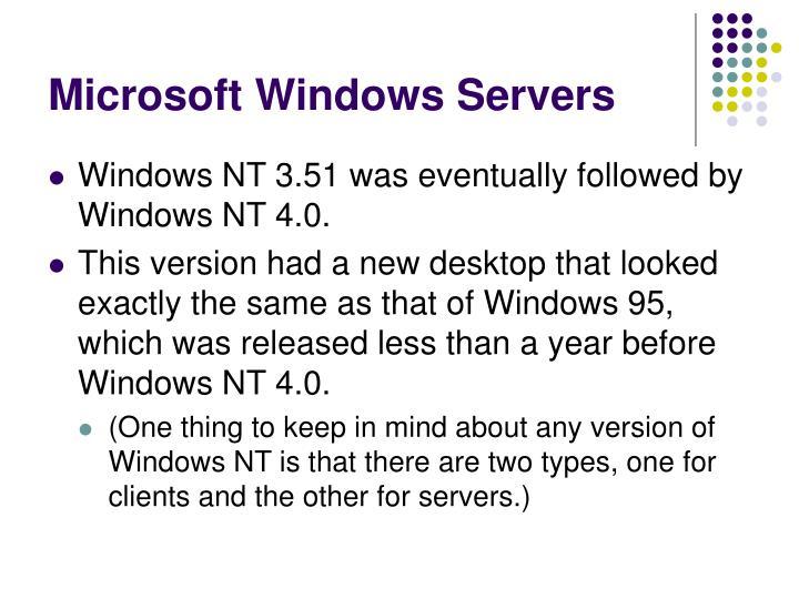 Microsoft windows servers3