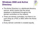 windows 2000 and active directory22