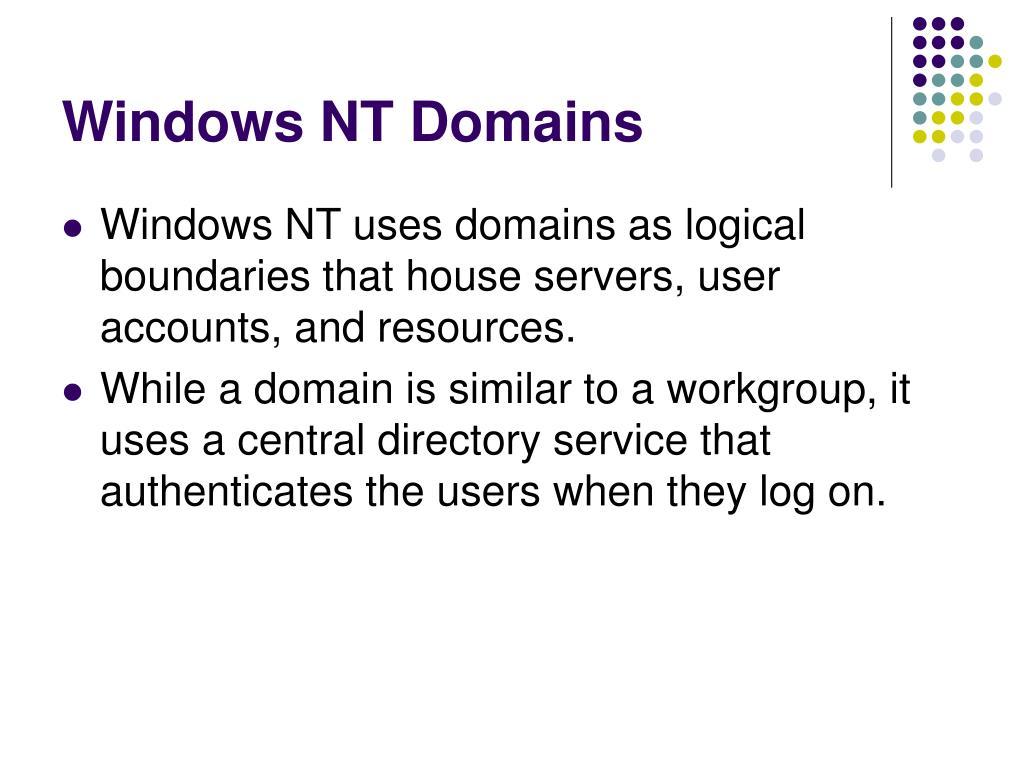 Windows NT Domains