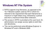 windows nt file system
