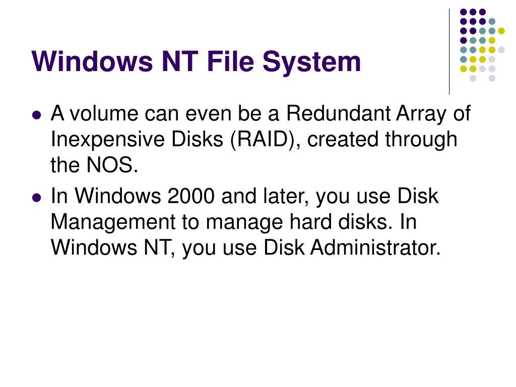 Windows NT File System