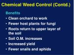 chemical weed control contd