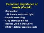 economic importance of weeds contd