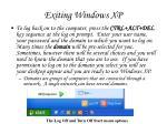 exiting windows xp55