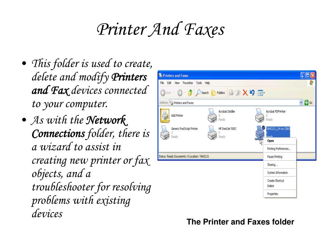 Printer And Faxes