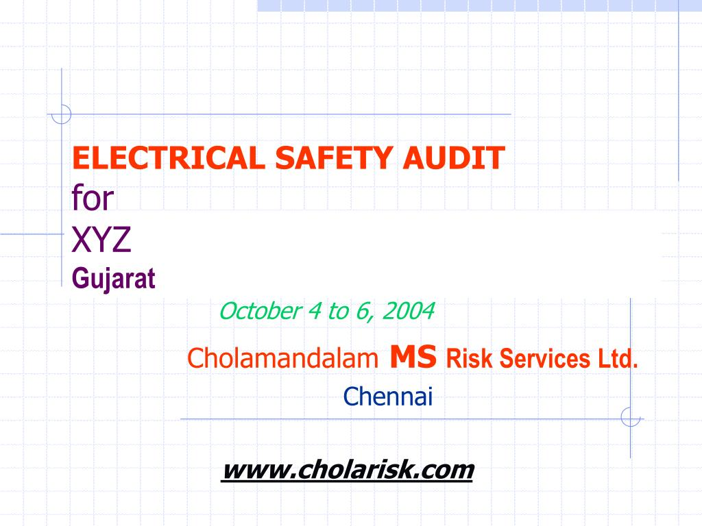 electrical safety audit for xyz gujarat l.