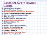 electrical safety services clients