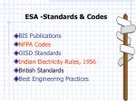 esa standards codes