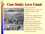 case study love canal