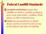 federal landfill standards