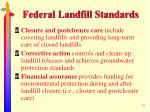 federal landfill standards49