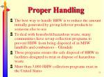 proper handling