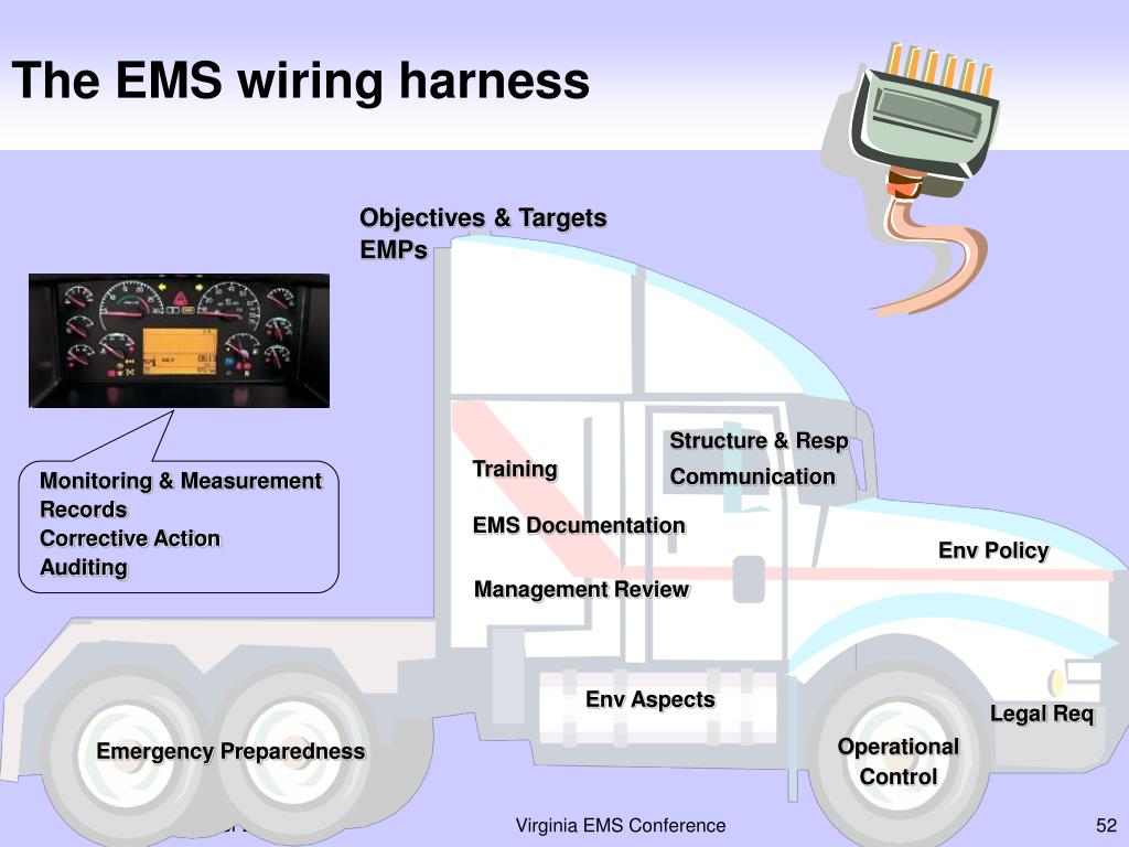 The EMS wiring harness