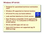 windows xp 64 bit