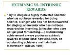 extrinsic vs intrinsic rewards