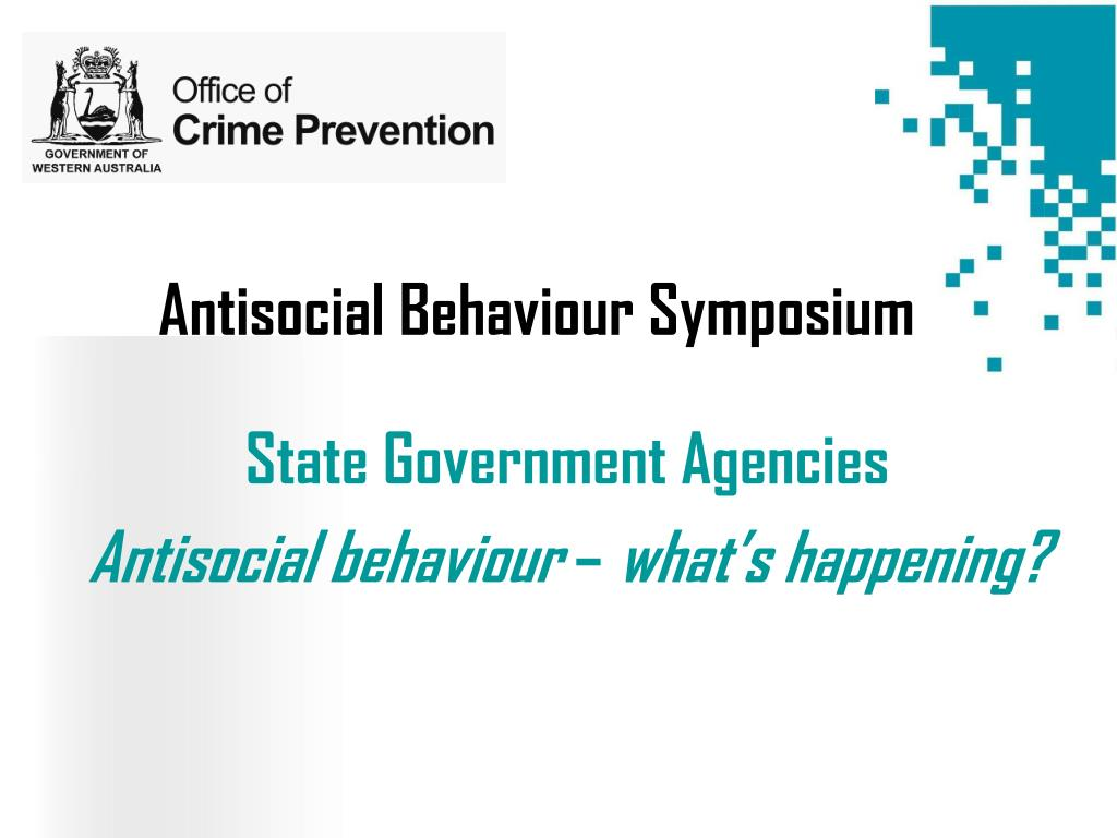 antisocial behaviour symposium l.