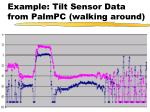 example tilt sensor data from palmpc walking around