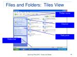 files and folders tiles view