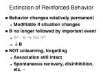 extinction of reinforced behavior