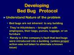 developing bed bug protocol34