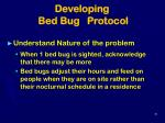 developing bed bug protocol35
