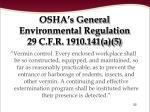 osha s general environmental regulation 29 c f r 1910 141 a 5