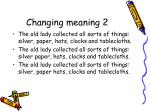 changing meaning 2