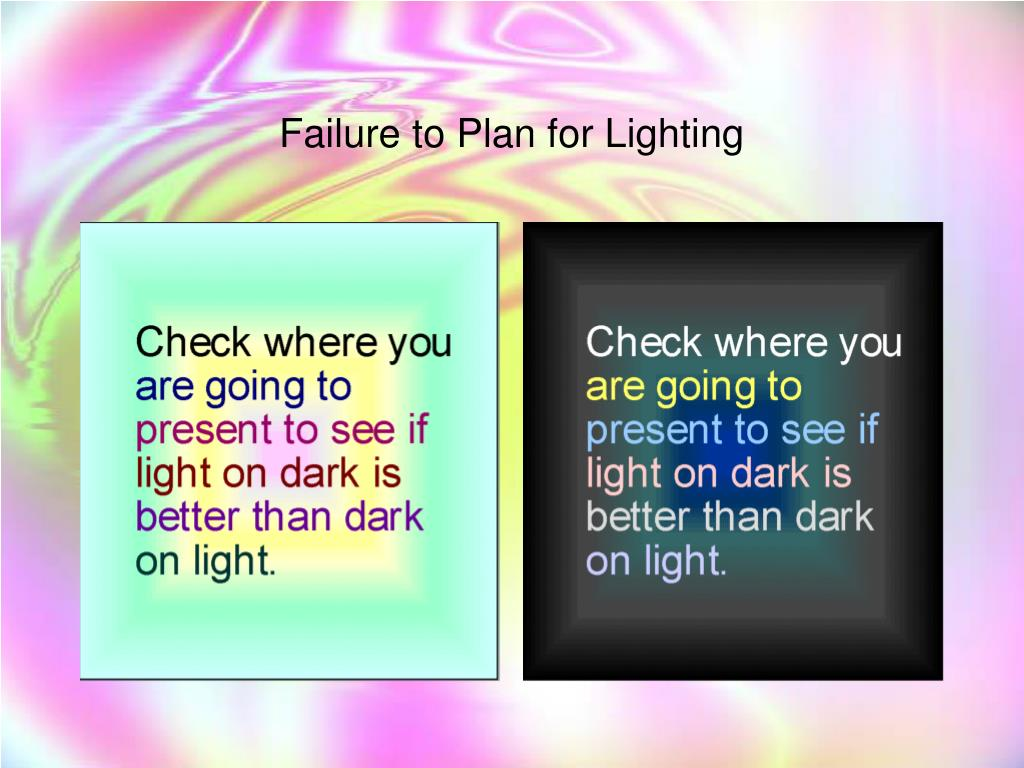 Failure to Plan for Lighting