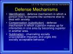 defense mechanisms34
