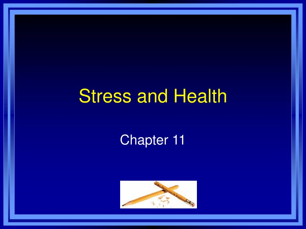 stress and health l.