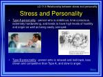 stress and personality