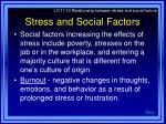 stress and social factors
