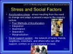 stress and social factors29