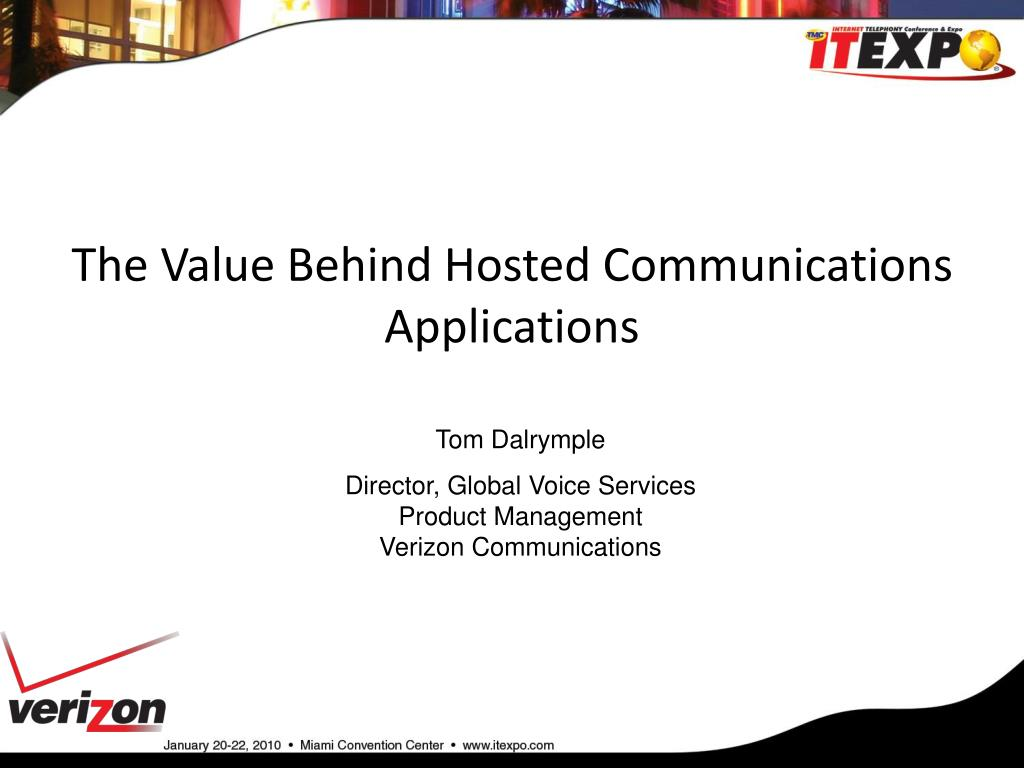 the value behind hosted communications applications l.