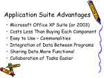 application suite advantages