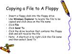 copying a file to a floppy