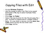 copying files with edit
