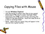 copying files with mouse