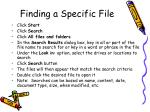 finding a specific file