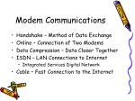 modem communications