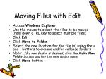 moving files with edit