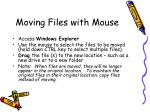 moving files with mouse